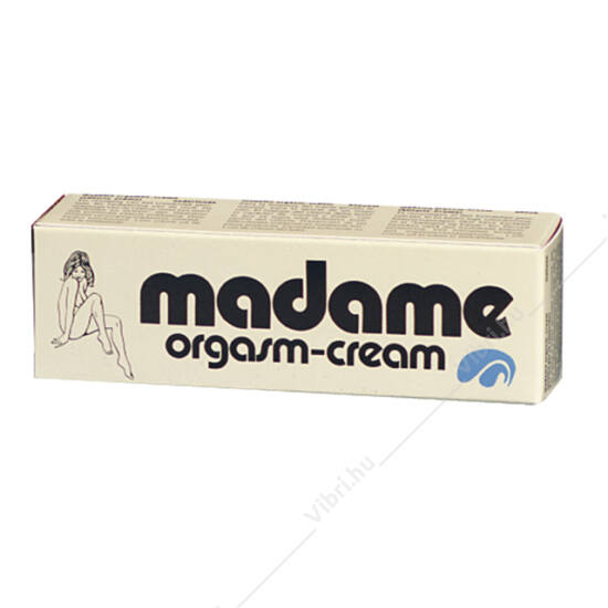 Madame Orgasm stimuláló klitoriszkrém - 18 ml