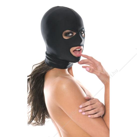 Sztreccs maszk 3 nyilással - fekete