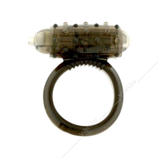 Vibrációs szilikon péniszgyűrű - fekete