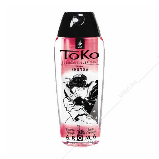 Toko Aroma vízbázisú síkosító - eper&pezsgő - 165ml
